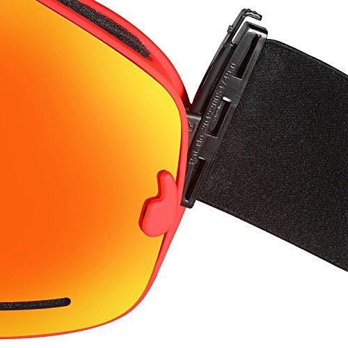 ... Lunettes de Ski, Hicool Masque de Snowboard Antibuée Anti-UV  Grand-angle de 44663472fc61