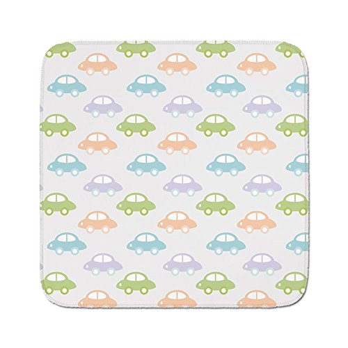 Cozy Seat Protector Pads Cushion Area Rug,Kids,Cute Cars Pastel Colored Automobiles Boys City Joyful Game Toys Childhood Inspired Decorative,Multicolor,Easy to Use on Any - Boys Butt For Games