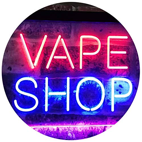 ADVPRO Vape Shop Indoor Display Dual Color LED Neon Sign Blue & Red 16 x 12 Inches st6s43-i3018-br ()