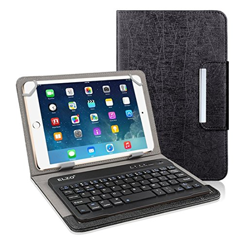 eather Bluetooth Keyboard Case / Wireless Keyboard Cover for iPad Mini, Samsung, iRulu, Acer, Linx, Android Google Tablet (Black) ()