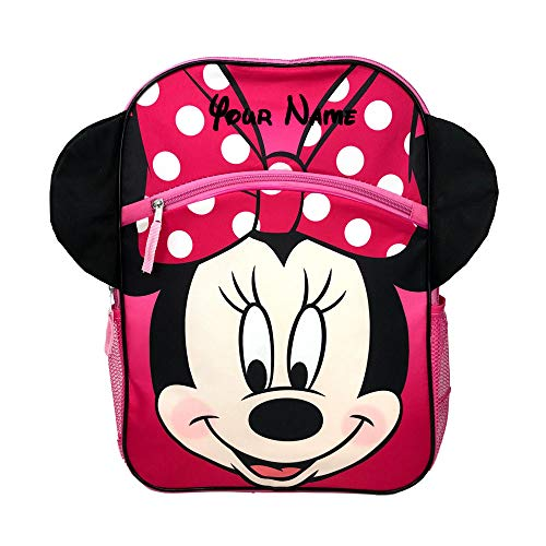Disney Personalized Minnie Mouse Smiling Face with Ears Backpack Book Bag - 16 -