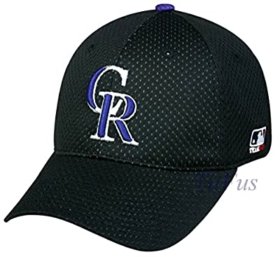 MLB Mesh Flexfit Colorado Rockies Home Hat Cap Stretch Fitted (S/M)
