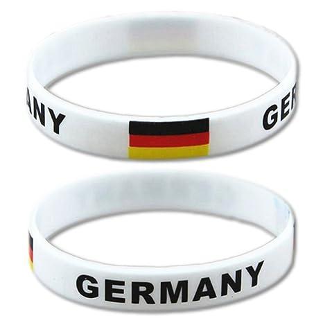 EROSPA® Fan de Pulsera de balón de fútbol de Alemania (Alemania ...