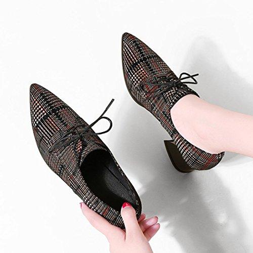 GAOLIXIA Casual Alto Puntiagudos Chunky de Bombas Zapatos Tacón Zapatos Heel Trabajo Zapatos de Black Four de Moda Tacón Mujer Alto Zapatos red de Zapatos Seasons Salón de rxaSqYrn
