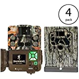 Browning 2018 Strike Force Pro XD Dual Lens Technology Camoflage Hunting Camera (4 Pack) with Security Boxes
