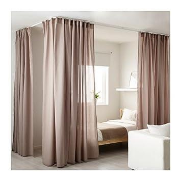 Ikea Trennwand ikea vidga raumteiler eck set gardinenschienen in weiß amazon de