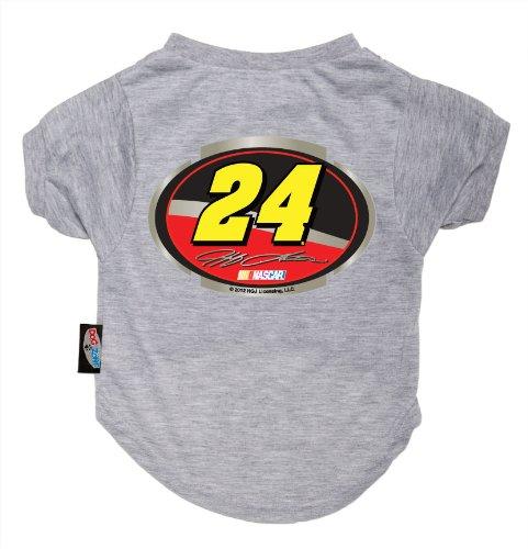 Dog Zone NASCAR Pet T-Shirt, XX-Small, Gray, Jeff Gordon