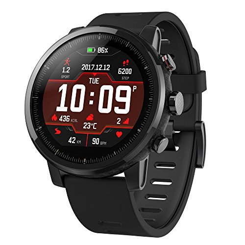 51d7Gu2JUoL - Amazfit Stratos Multisport Smartwatch by Huami with VO2max, All-day Heart Rate and Activity Tracking, GPS, 5 ATM Water Resistance, Phone-free Music, US Service and Warranty (A1619, Black)