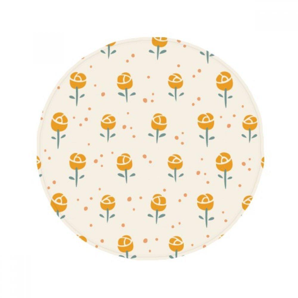 60X60cm DIYthinker Yellow Flower Plant pink Pattern Anti-Slip Floor Pet Mat Round Bathroom Living Room Kitchen Door 60 50Cm Gift