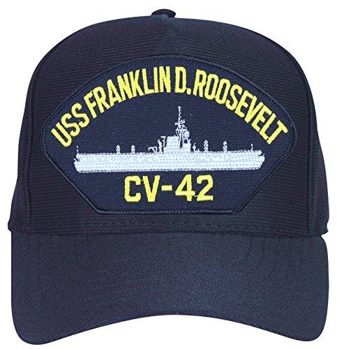 MilitaryBest USS Franklin D. Roosevelt Ball CV-42 Ship's Cap