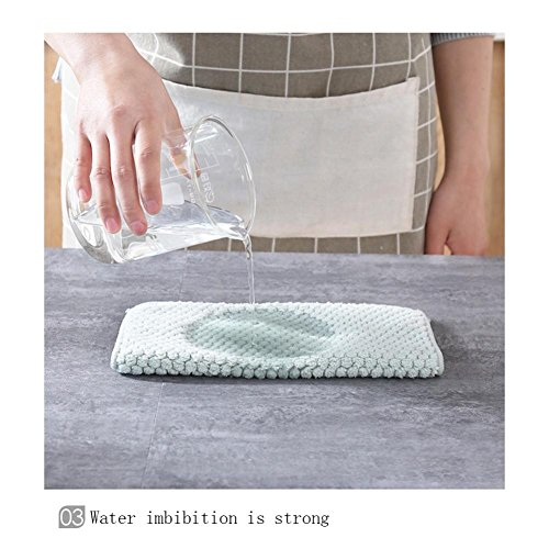 Clearance Sale!DEESEE(TM)Nonstick Oil Coral Velvet Hanging Hand Towels Kitchen Dishclout (Green) by DEESEE(TM)_Home (Image #4)
