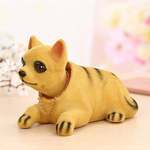 Cute Chihuahua Cartoon Bobblehead Toy Car Accessories/Dashboard Bobblehead for Car/ Interior Decoration, Bobble Head Toy, Kid's Gift