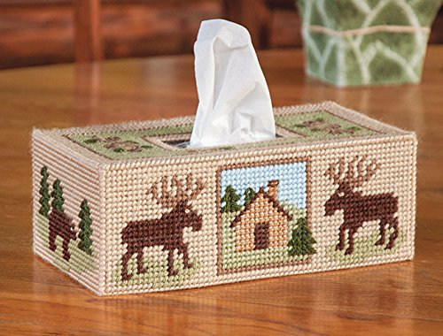 (Woodland Tissue Box Cover Plastic Canvas Kit)