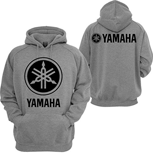 Yamaha Racing Hoodie Motocross YZF R1 R6 YFZ Motorcycles Honda Yamaha Sweatshirt Grey