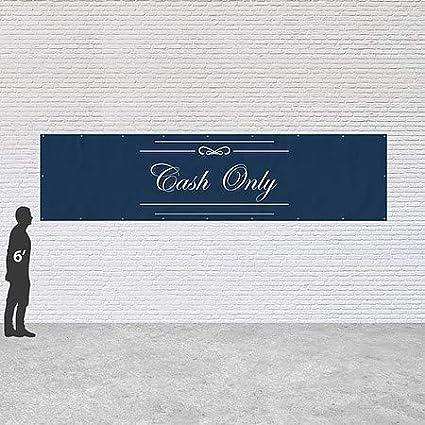 16x4 CGSignLab Classic Navy Heavy-Duty Outdoor Vinyl Banner Cash Only