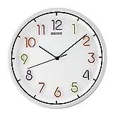 Seiko Wall Clock (31.8 cm x 31.8 cm x 4.5 cm, White, QXA447HN)