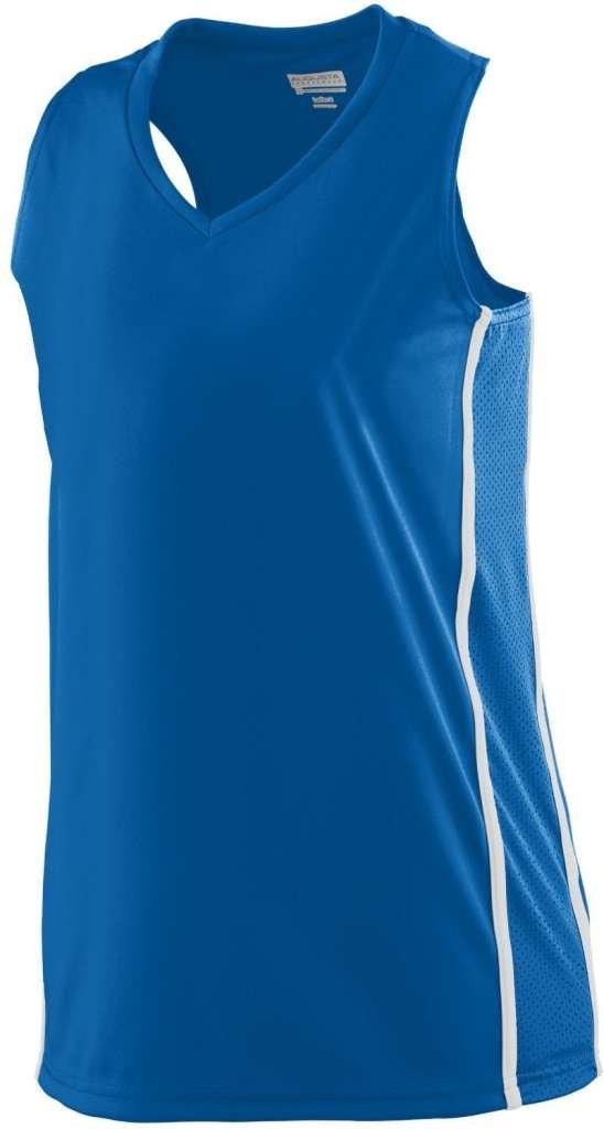 Augusta SportswearレディースWinning Streak Racerback Jersey B00HU4FCPCロイヤル/ホワイト Medium