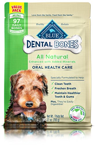 BLUE Dental Bones Adult Mini Dental Chew Dog Treat 27-oz Value Pack