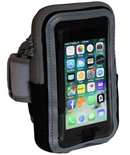 Cheap Armbands Sports Armband with Zipper Pouch and Fingerprint Touch for iPhone X 8..