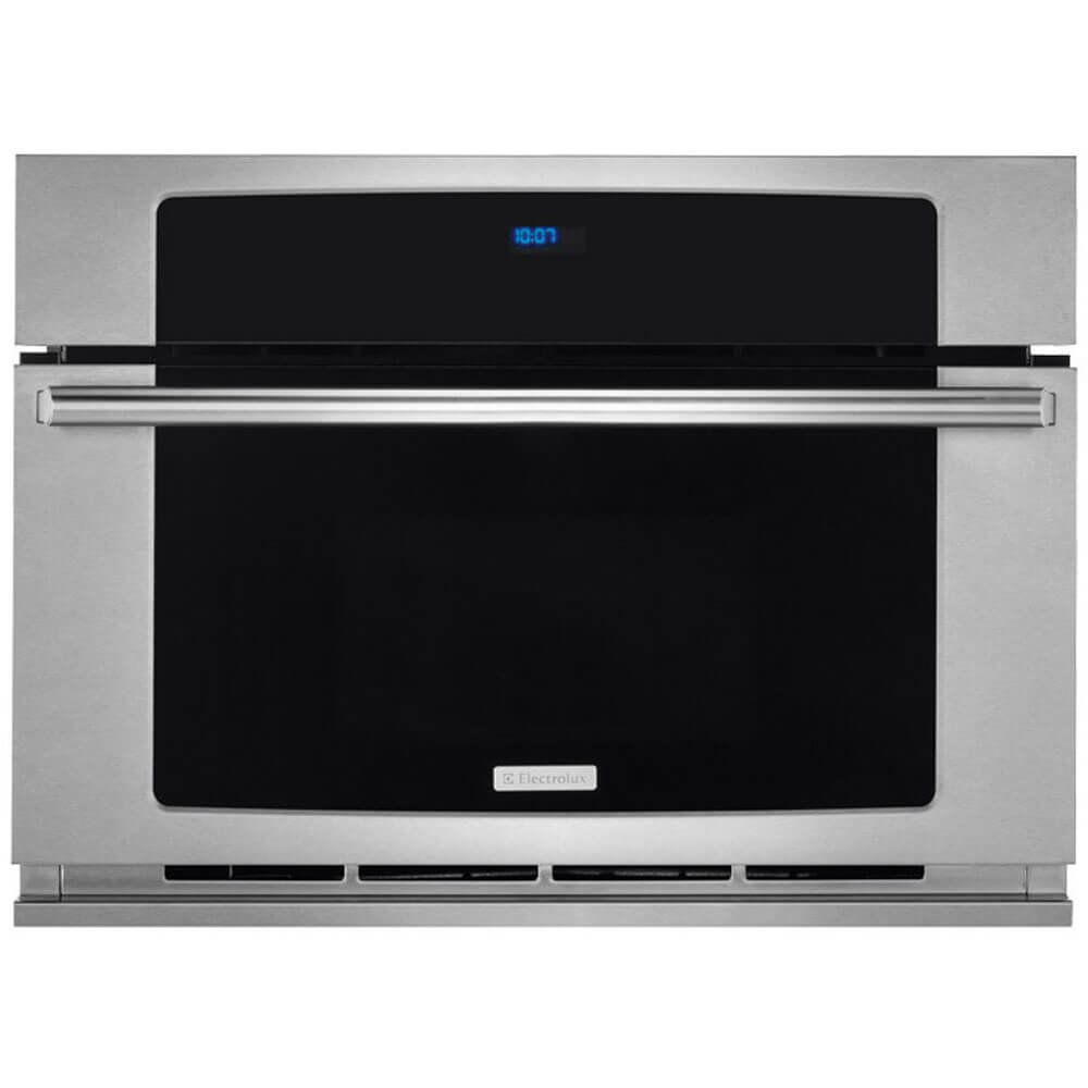 Electrolux EW30SO60QS 30'' Built-In Convection Microwave Oven with 1.5 cu. ft. Oven Capacity Drop-Down Door Wave-Touch Controls Convection Cooking and Multi-Stage Cooking in Stainless