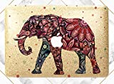 gold bar display case - Floral Elephant Ornament Gold Rose Gold Hard Plastic Glitter Case Cover For Apple Macbook Air 11 13 Macbook 12 Macbook Pro 13 15 Inch 2016 2017 With Retina Display Touch Bar