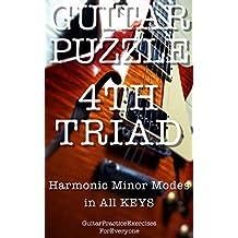 GUITAR PUZZLE 4th Triad Harmonic minor modes in all keys