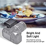 Camera Flashlight Hot Shoe Mini Portable Digital On-Camera Mount Flashlight for DSLR Cameras for Canon, Nikon, Panasonic, Fujifilm,Pentax, Sigma,Olympus DSLR/SLR/EVIL Camera