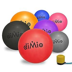 diMio Gymnastikball 65 cm blau inkl. Pumpe (55-65cm, 7 Farben)