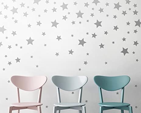 Superior Star Wall Decals   Silver Star Decals, Nursery Wall Decals, Star Wall  Stickers,