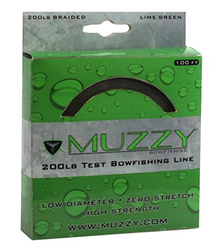 Carbon Express Muzzy Bowfishing Line, Lime Green, 200 ()