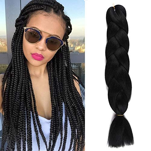 Christmas Day Aigemei Braiding Hair Extensions 100% Kanekalon 48Inch African Hair Natural Color Braiding 100G/pc Synthetic Straight Crochet Braids Hairstyles