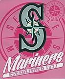 Seattle Mariners 50x60 MLB Sprint Design Pink Royal Plush Raschel Throw