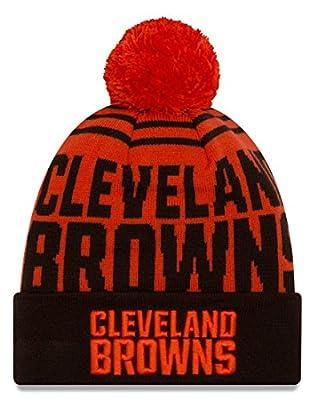 "Cleveland Browns New Era NFL ""Logo Whiz 2"" Cuffed Knit Hat with Pom"