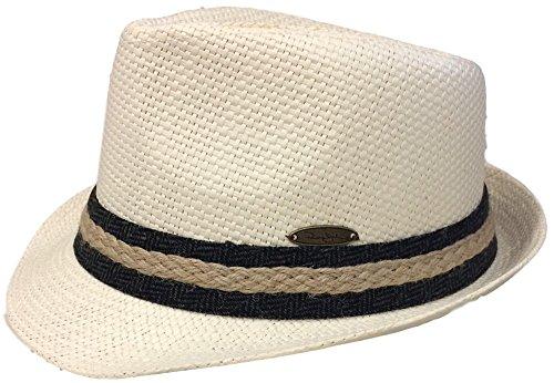 Panama Jack Men's Matte Toyo Fedora (Large, Braid - Toyo Wide Braid Hat