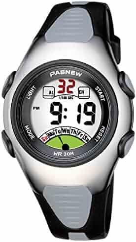 Kids Watch 30M Waterproof Sport LED Alarm Stopwatch Digital Child Wristwatch for Boy Girl Gift Black