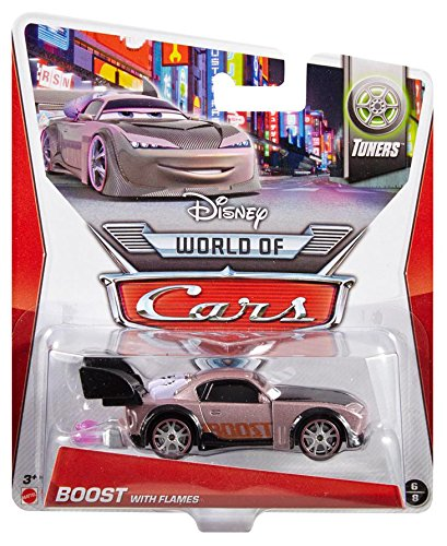 Disney World of Cars, Tuners Die-Cast Vehicle, Boost with Flames #6/8, 1:55  Scale
