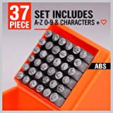 HORUSDY 37-Piece Number & Capital Letter Stamp Set