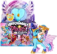 Hatchimals Pixies Riders, Crystal Charlotte Pixie and Draggle Glider Set with Mystery Feature