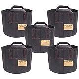 Cheap HydroLight Flex Pot, Fabric Grow Pots Smart Gro Sacks Breathable Pots Planters (5, 15 Gallon Pot (With Handles))