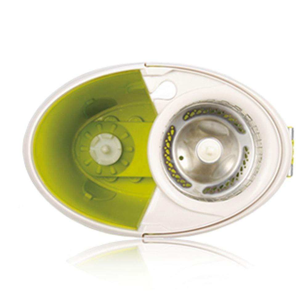 Secchiello Set limone Snodo Girevole a 360/° ARSUK Sistema Lavapavimenti con Secchio Strizzatore e Piastra con 2 Panni in Microfibra