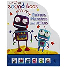 Children's Marzipan Shaped Hardback Sound Book Robots, Monsters And Aliens