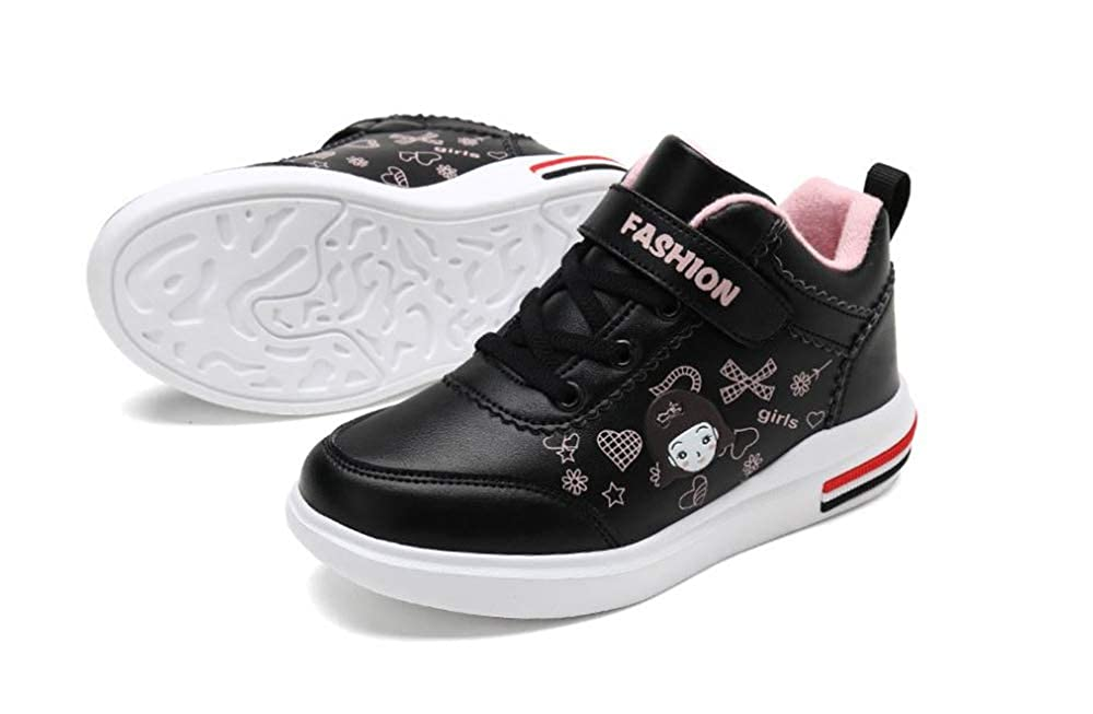 Rose town Boys Girls Sneakers Warm Non-Slip Shoes High-top Waterproof Boots
