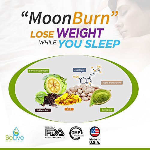 MoonBurn-Burn-Fat-While-You-Sleep-Weight-Loss-Pills-for-Women-and-Men-Sleep-Aid-Supplement-Stimulant-Free-Belly-Fat-Burner-Carb-Blocker-with-Garcinia-Cambogia-Green-Tea-CLA