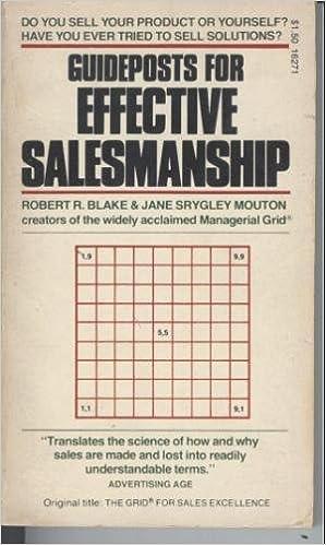 Guideposts for Effective Salesmanship