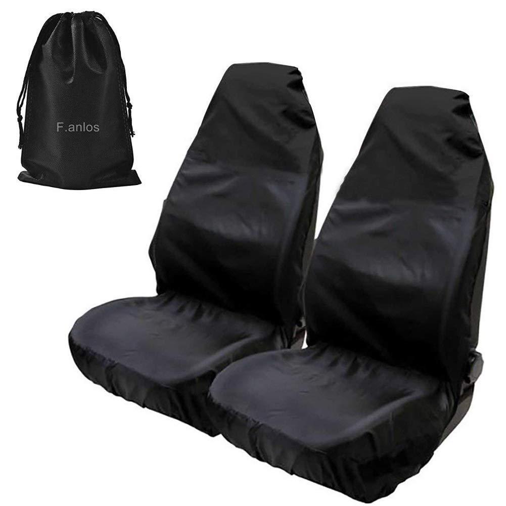 Kick Mat Asiento trasero del coche Organizador y Protector asiento de coche protecci/ón del asiento de coche almacenaje del coche 2 Piezas Compatible todos los tipos de veh/ículos y duraderos. Cuero Cubierta del asiento de coche superior