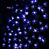 FULLBELL LED String Lights 66ft 200 LEDs 8 Color Changing Modes Fairy Flower Decorative Light for Party, Wedding, Chirstmas Tree, Patio, Garden, Outdoor and Indoor Decoration + Controller(Blue)