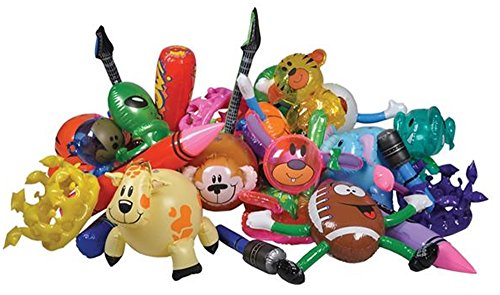 Set of 12 Assorted Inflatable Toys - Inflate Assortment