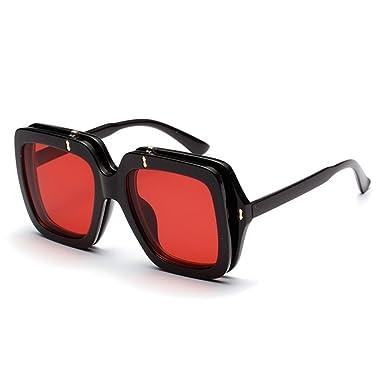 Amazon.com: Gafas de sol cuadradas para hombre, vintage, a ...