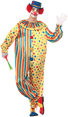Buttons The Clown Costumes (Forum Novelties Spots The Clown Costume, Multi, Standard)