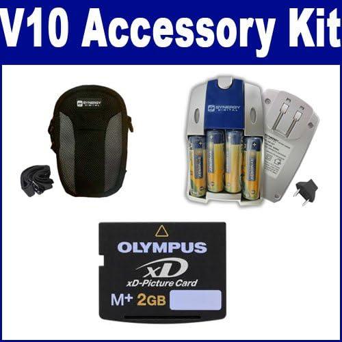 SB257 Charger XD2GB Memory Card Fujifilm Finepix V10 Digital Camera Accessory Kit Includes SDC-21 Case